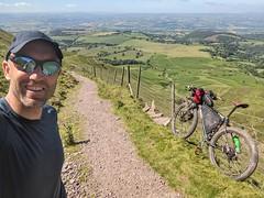 Single-track descent selfie