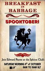 Breakfast in Babbage: Spooktober!