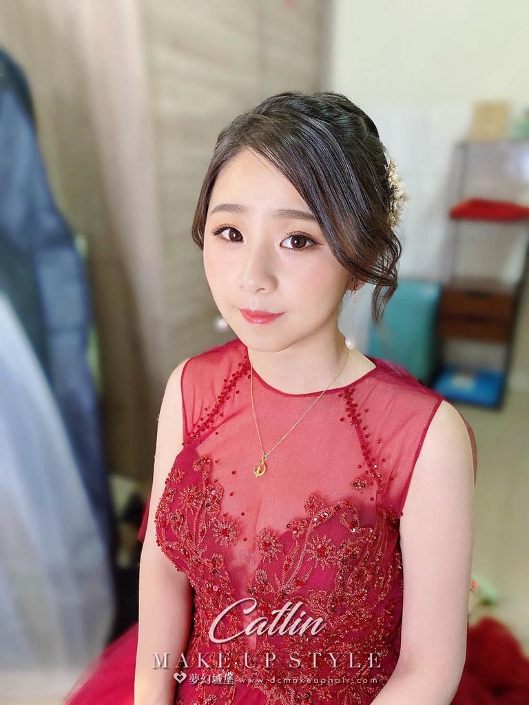 【新秘Catlin】bride 宛庭 訂婚造型 / 韓系甜美
