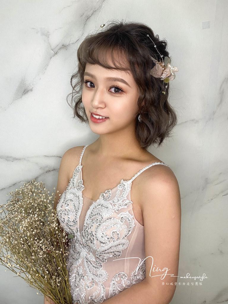 【新秘羽寧】新娘造型創作 /短髮-仙女風