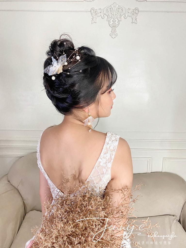 【新秘蓁妮】新娘造型創作 / 短髮-仙女盤髮