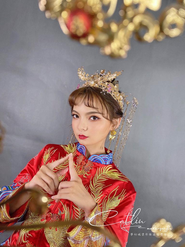 【新秘Catlin】新娘造型創作 / 龍鳳掛-鳳冠造型