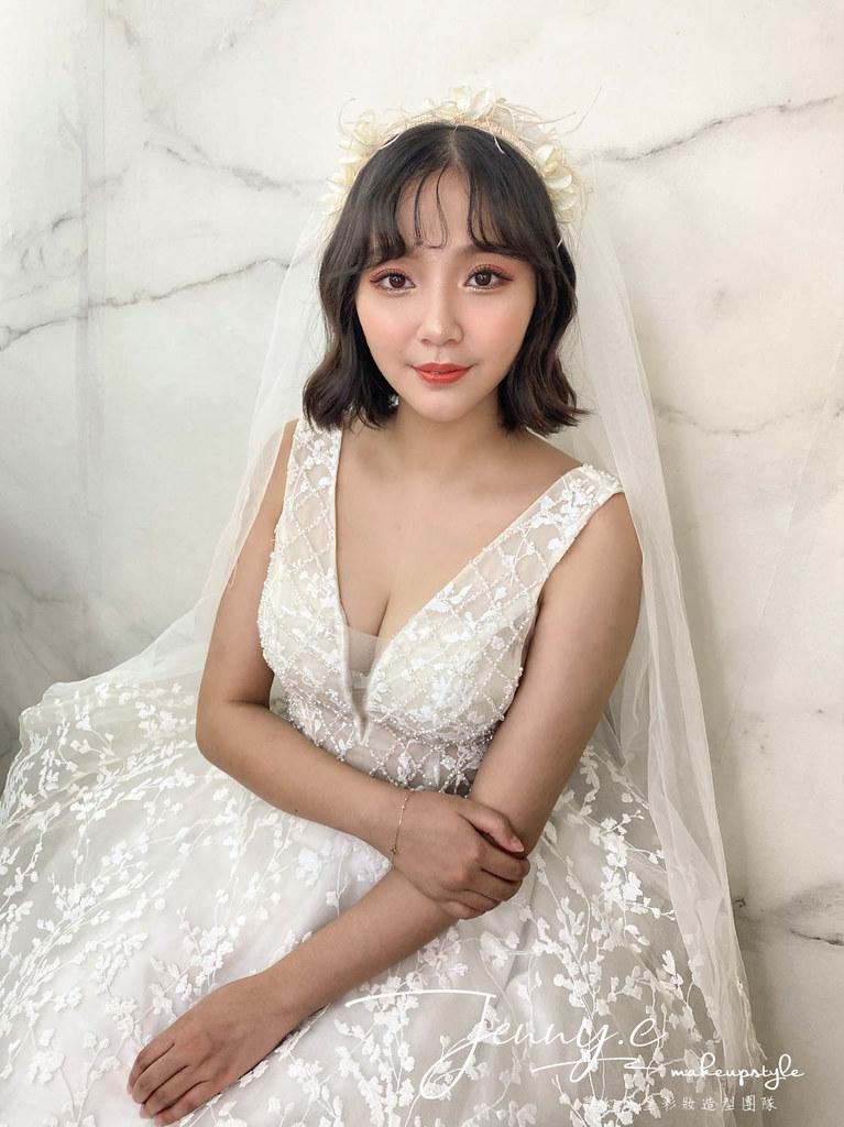 【新秘蓁妮】新娘造型創作 / 短髮-仙女頭紗