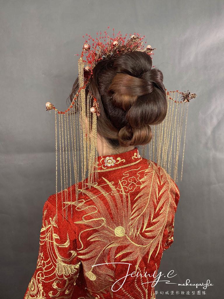 【新秘蓁妮】新娘造型創作 / 龍鳳掛-鳳冠造型