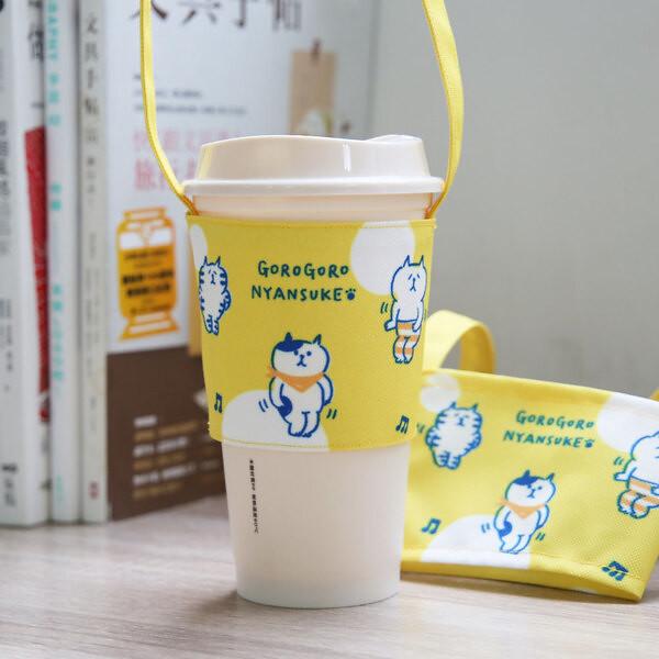 誠品生活站前店 即日起-11.7「Fandora Shop-暢遊秋日祭」快閃店 懶洋洋喵之助_飲料提袋 推薦價220元。
