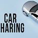 Car sharing concept with gray toy car