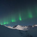 Auroras over the Talkeetna Mountains