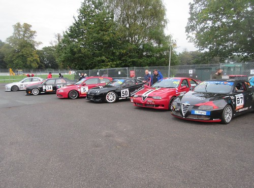 Busy Oulton assembly area before race 2