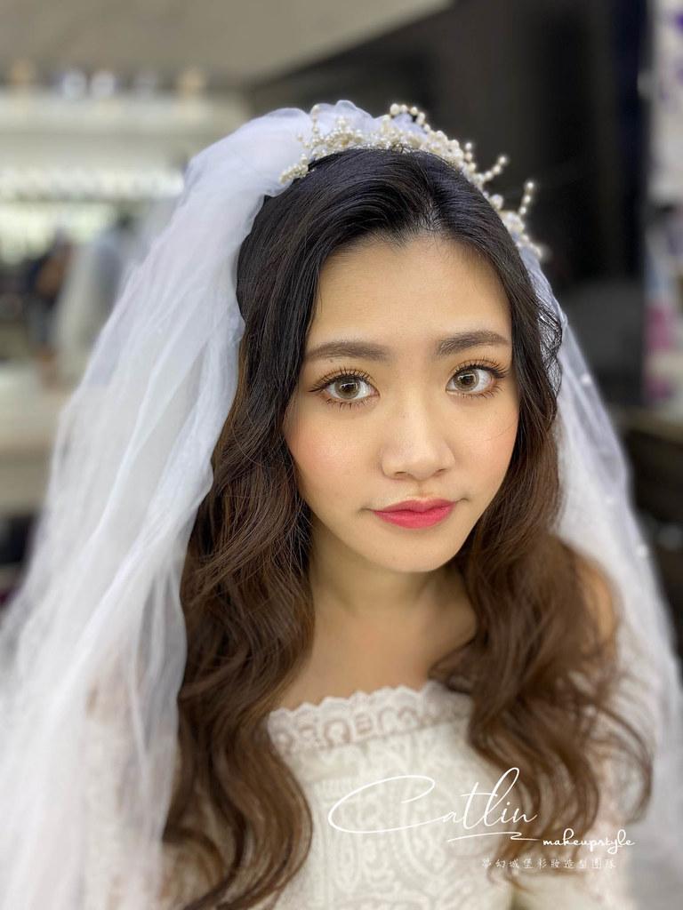 【新秘Catlin】新娘造型創作 / 放髮頭紗造型
