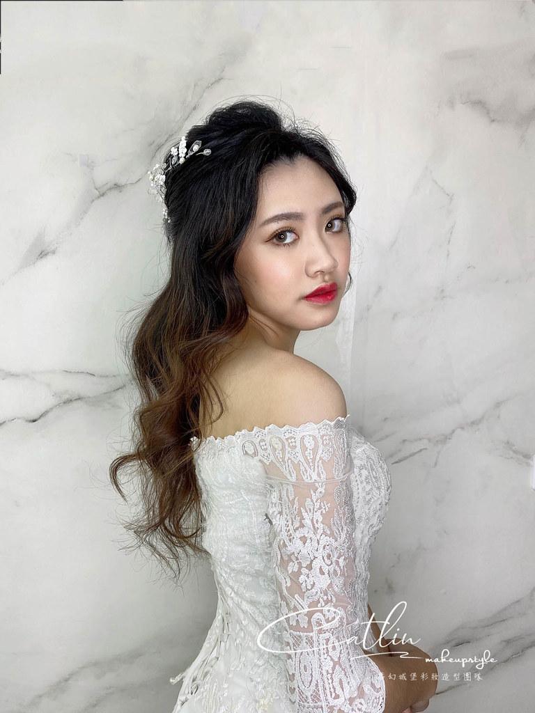【新秘Catlin】新娘造型創作 / 優雅公主頭