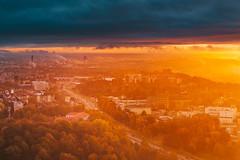 Foggy morning   Kaunas aerial #286/365