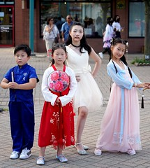 Chinese performers, young kids