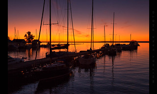 Sunrise at Marquette Harbor