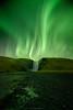 Aurora borealis - Skógafoss