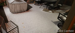 October 12, 2021 - Hail coats a deck in Broomfield. (David Canfield)