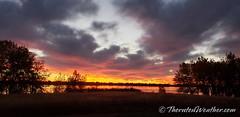October 18, 2021 - An absolutely stunning sunrise. (ThorntonWeather.com)
