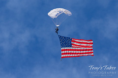 October 16, 2021 - Old Glory arrives at the Great Colorado Airshow. (Tony's Takes)