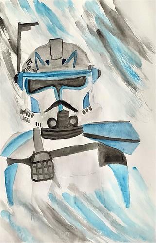 Captain Rex of the 501st Legion by Ana Arango