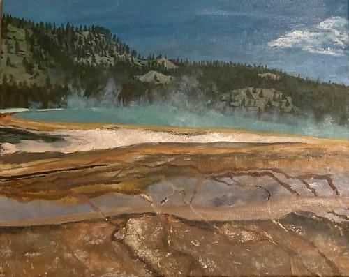 Yellowstone Geyser by Daniel Huang