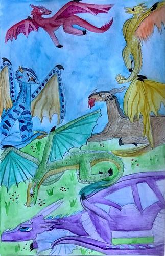 A Day With Dragons by Ana Arango