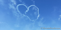 October 17, 2021 - Smoke from parachutists form a heart. (ThorntonWeather.com)