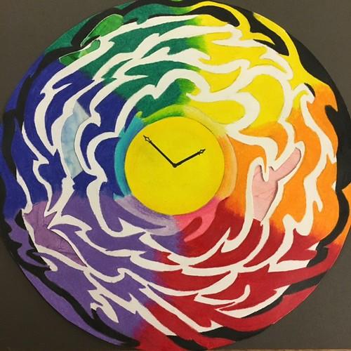 Colorful Clock by Carolyn Deng