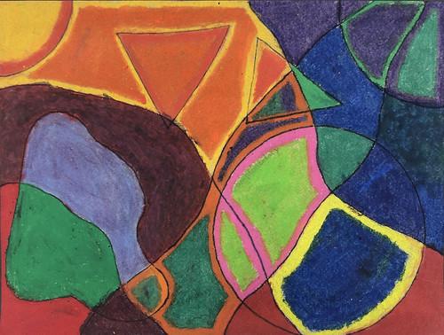 Dorito Abstract Art by Steffen Cortez
