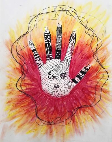 Hand Zentangle by Esmeralda Aguilar