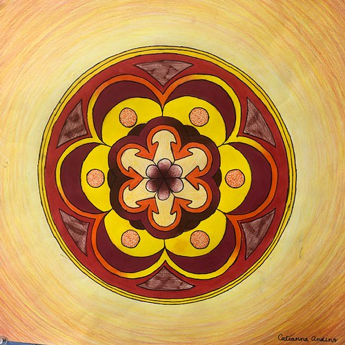 Glowing Mandala by Catianna Andino