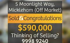 5 Moonlight Way, Mickleham VIC