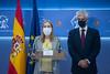 Ana Pastor y Adolfo Suarez Illana en la Rueda de Prensa posterior a la Mesa del Congreso Extraordinaria (21/10/21)
