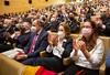 La Portavoz del GPP, Cuca Gamarra en el Acto de entrega de medallas al mérito de la Policía Local en Logroño (23/10/21)