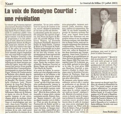 Nant. La voix de Roselyne Courtial: une révélation.
