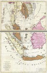 1710 Ottens Map of Southeast Asia, Singapore, Thailand (Siam), Malaysia, Sumatra, Borneo