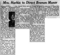 1965 - Harbin directs Bremen Manor - South Bend Tribune - 3 Feb 1965