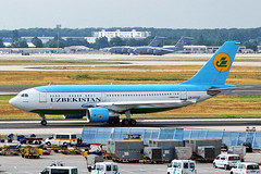 UK-31002 Airbus A310-324 Uzbekistan Airways FRA 30JUL05 (Ken Fielding) Tags: uk31002 airbus a310324 uzbekistanairways aircraft airplane airliner jet jetliner widebody aviation