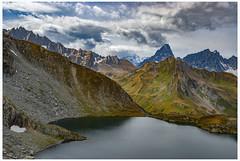 Lac de Fenêtre (2512m) And The Massive of Mont Blanc. The area of the Great St Bernard pass , Val Ferret . (Izakigur) Tags: coldugrandsaintbernard colledelgransanbernard greatstbernardpass gransanbernardo alps izakiguralps cantonduvalais italy italia valledaoste aoste montjoux izakigur grossersanktbernard ferret wallis valais izakigur2008 helvetia flickr dieschweiz europa feel europe lasuisse laventuresuisse myswitzerland schweiz suisia suisse suiza suizo svizzera swiss 阿尔卑斯山 명사 스위스 سويسرا romandie lacdefenêtre fenêtre lapointededrône coldubastillon montdolent mygearandme switzerland