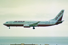 D-ABAT Boeing 737-86J Air-Berlin LPA 01NOV00 (Ken Fielding) Tags: dabat boeing b73786j airberlin aircraft airplane airliner jet jetliner aviation