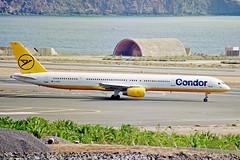 D-ABOK 1 Boeing 757-330 Condor Flugdienst LPA 01NOV00 (Ken Fielding) Tags: dabok boeing b757330 condorflugdienst aircraft airplane airliner jet jetliner aviation