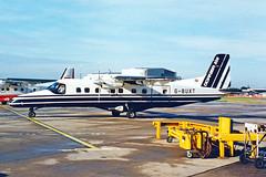 G-BUXT 1 Dornier Do.228-201 Suckling Airways MAN 13SEP94 (Ken Fielding) Tags: gbuxt dornier do228201 sucklingairways aircraft airplane jetprop turboprop regional commuter