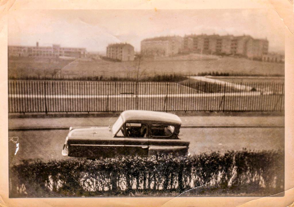 Charlie Frost's car, Cranhill, Glasgow, 1964