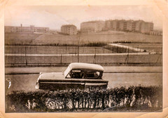 Image titled Charlie Frost's car, Cranhill, Glasgow, 1964