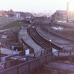 Manors Station, Newcastle on Valentine's Day, 1982