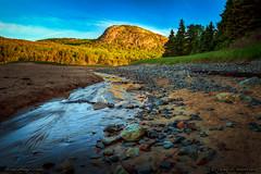 Acadia National Park (Greg from Maine) Tags: sunrise landscape nationalpark tide newengland barharbormaine beehive acadia barharbor mountdesertisland sandbeach acadianationalpark thebeehive