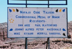 Code Talker Dine (Navajo) Nation ~ Arizona (1coffeelady) Tags: navajocodetalkers navajonation nativeamericanindian congressionalmedalofhonor southwest arizona west travel scenic scenery military nativeamericanmilitary codetalkers iwojimacodetalkers iwojima dinénation dinécodetalkers navajospeakers nativeamericancodetalkers militarycodetalkers navajocodetalkerssign arizonaroadtrip billboard sign dinenation navajoreservation dinereservation