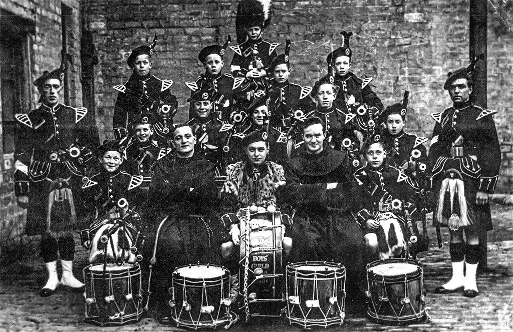 St Francis Pipe Band, Gorbals, 1926.