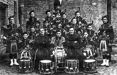 Image titled St Francis Pipe Band, Gorbals, 1926.
