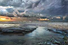 Nuvole (Zz manipulation) Tags: art ambrosioni zzmanipulation nubi nuvole sera mare onde spiaggia grigio