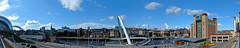 Newcastle Quayside (PangolinOne) Tags: bridge places uk gateshead england unitedkingdom sage tynebridge tyne newcastle quayside baltic river panorama milleniumbridge tyneandwear