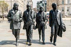 The Beatles (dprezat) Tags: city england liverpool town nikon gb angleterre ville d800 merseyside métropole nikond800 statue john paul george waterfront beatles fab4 ringo fabfour harrison lennon mccartney starr